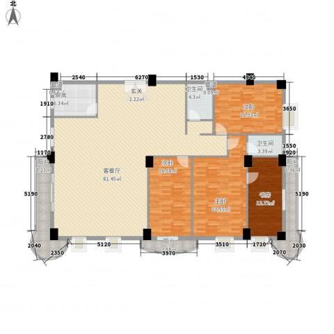 利济南路社区4室1厅2卫1厨249.00㎡户型图
