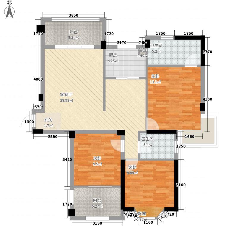 富裕新村121.00㎡富裕新村3室户型3室