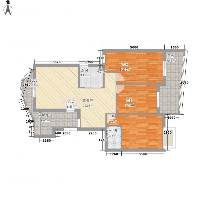 英华园102.00㎡英华园3室户型3室