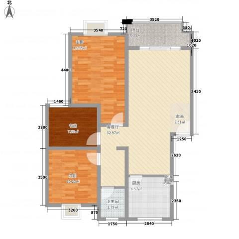 文豪花园3室1厅1卫1厨120.00㎡户型图