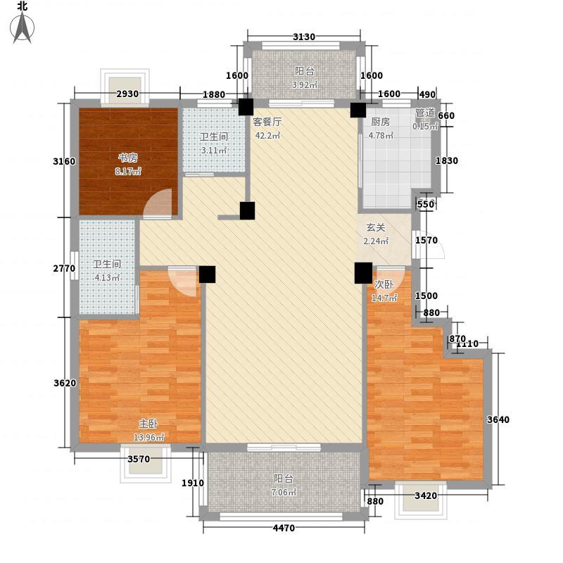 万景梅庭G[]户型3室2厅2卫1厨