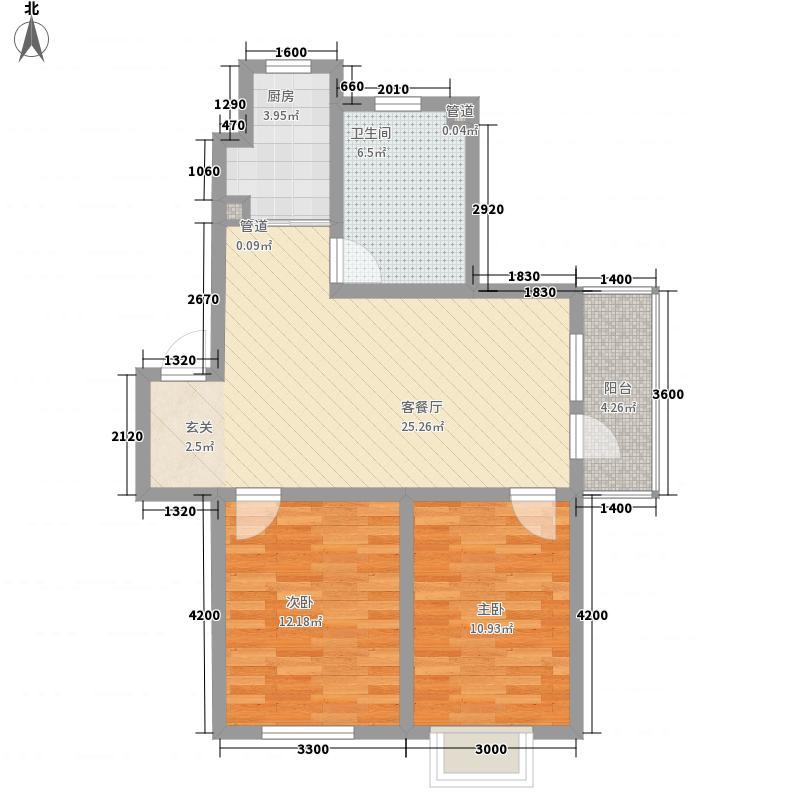 君海・朗郡83.37㎡君海・朗郡户型图DC-C-012室2厅1卫户型2室2厅1卫