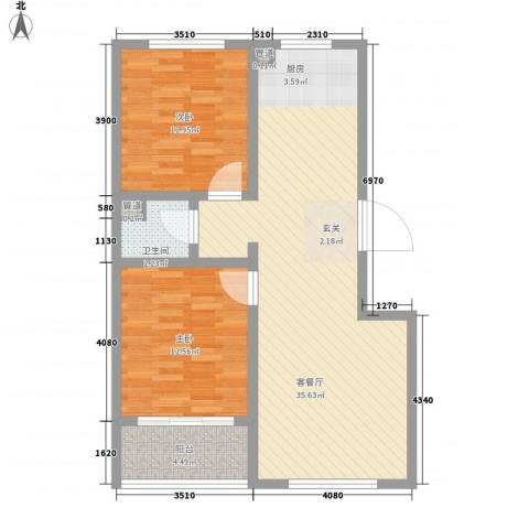树林新村2室1厅1卫0厨99.00㎡户型图