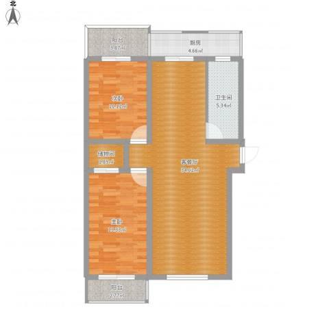 丽馨园二期2室1厅1卫1厨109.00㎡户型图
