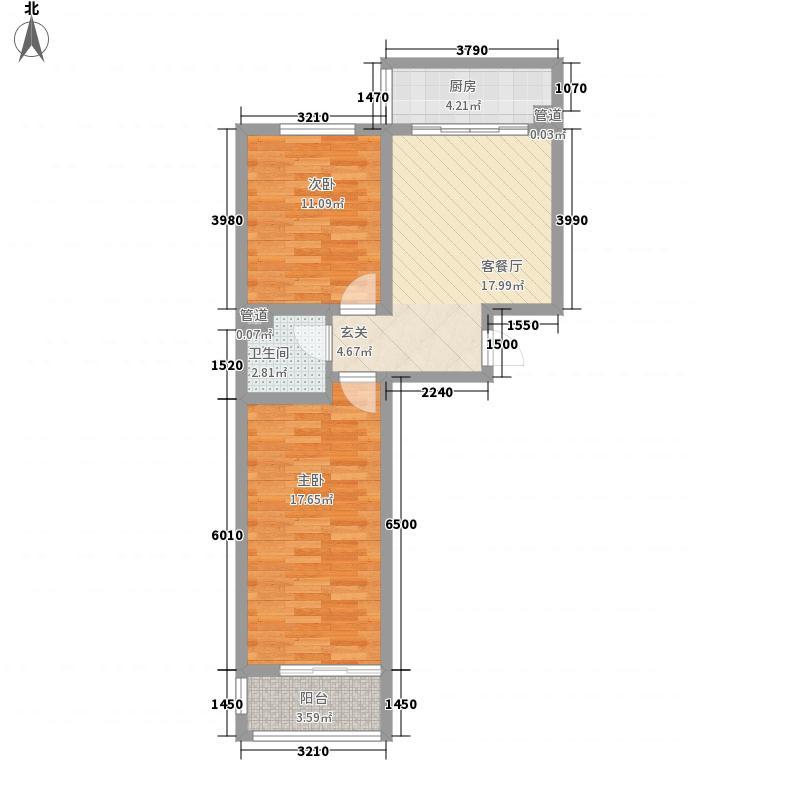 神奇庭院78.66㎡6号楼A平面面积7866m户型