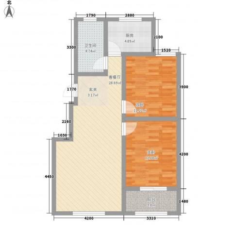 阳台山公安局宿舍2室1厅1卫1厨94.00㎡户型图