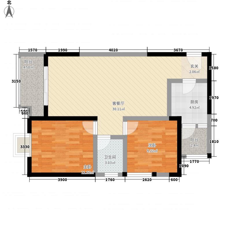 辰兴锦城国际16栋标准层E4户型