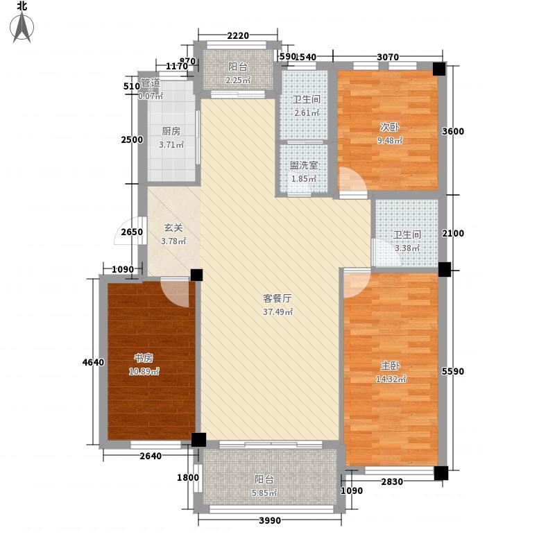 枫和庭苑138.42㎡枫和庭苑户型图23#楼F户型3室2厅2卫1厨户型3室2厅2卫1厨