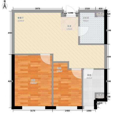 阳光馨苑2室1厅1卫1厨72.00㎡户型图