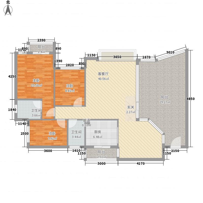 汇景盛世东方户型图盛世东方 3室 户型图 3室2厅2卫1厨