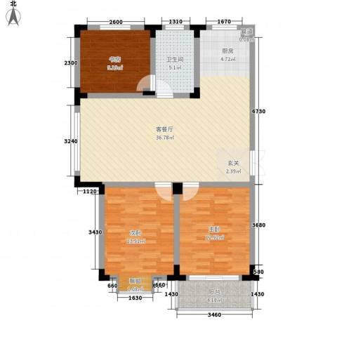 四季新城北苑3室1厅1卫0厨116.00㎡户型图