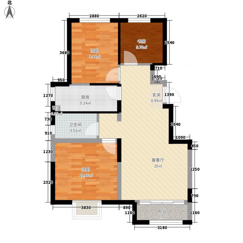 华润・橡树湾二期30#楼标准层2A户型