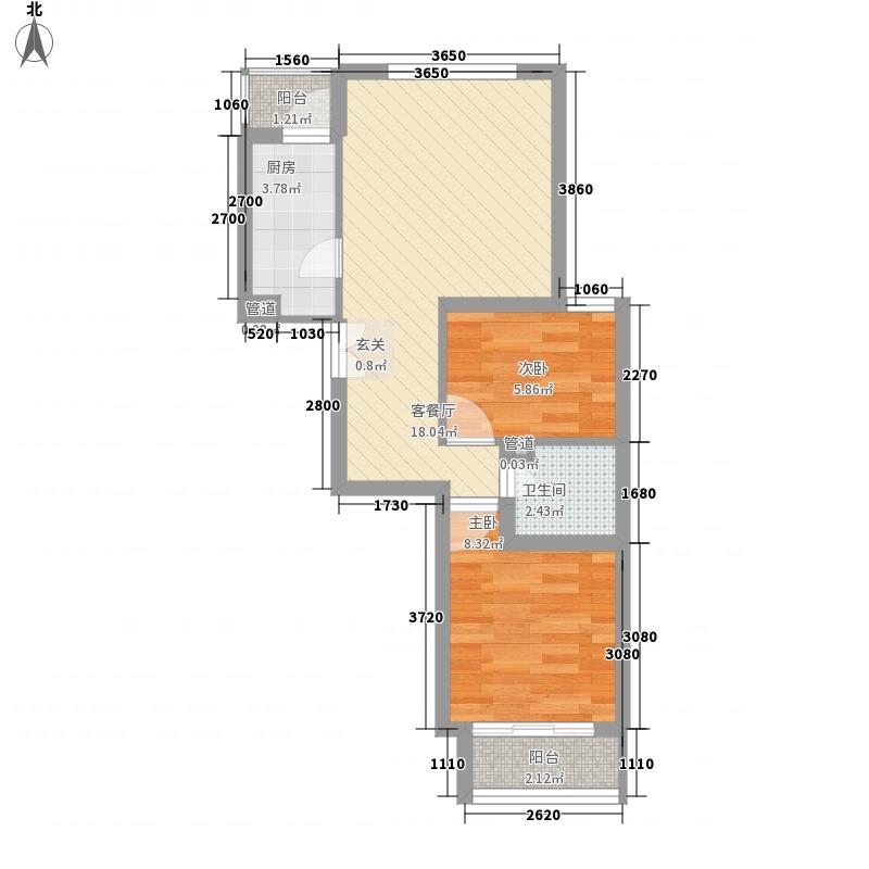 文教路62.00㎡小区户型2室