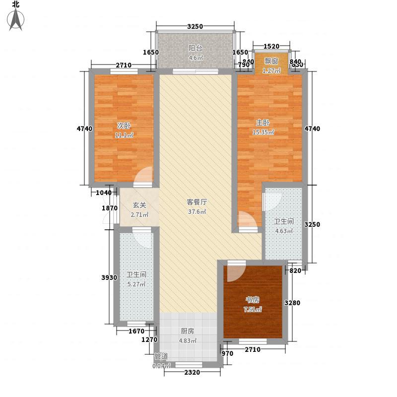 四季新城北苑123.36㎡四季新城北苑户型图3室2厅1卫1厨户型10室