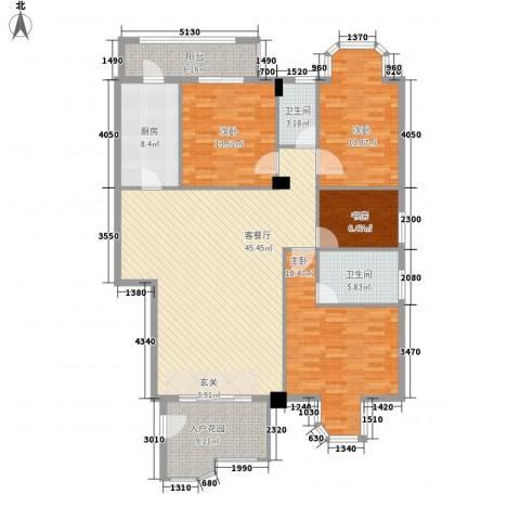 鼎盛时代广场4室1厅2卫1厨180.00㎡户型图