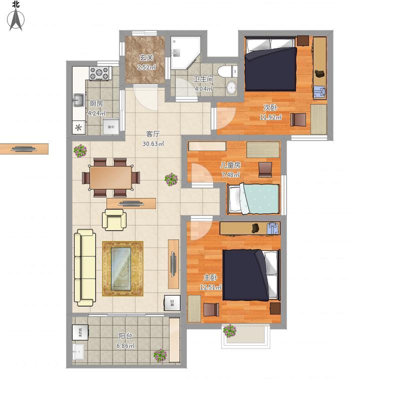 萍乡-雍华庭-设计方案-20栋小户型