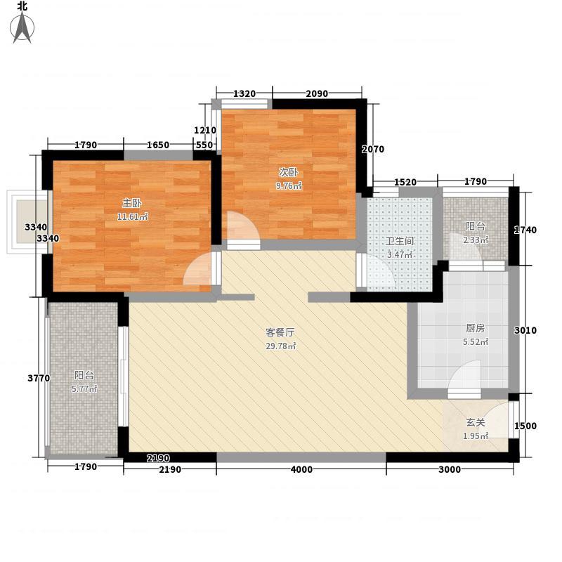 辰兴锦城国际16栋标准层E1户型