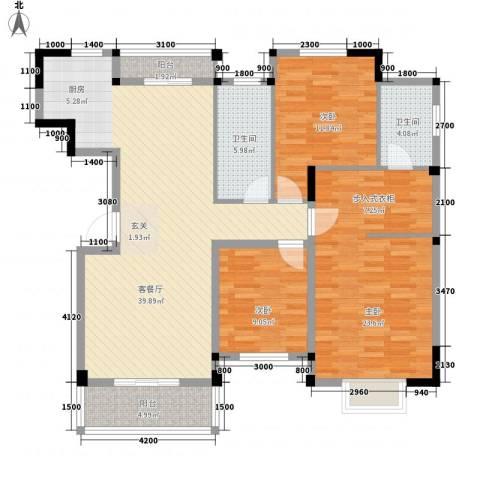梅阳花园3室1厅2卫0厨143.00㎡户型图