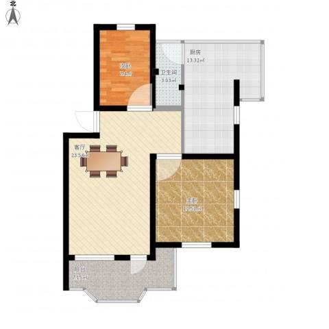 康乐园2室1厅1卫1厨95.00㎡户型图
