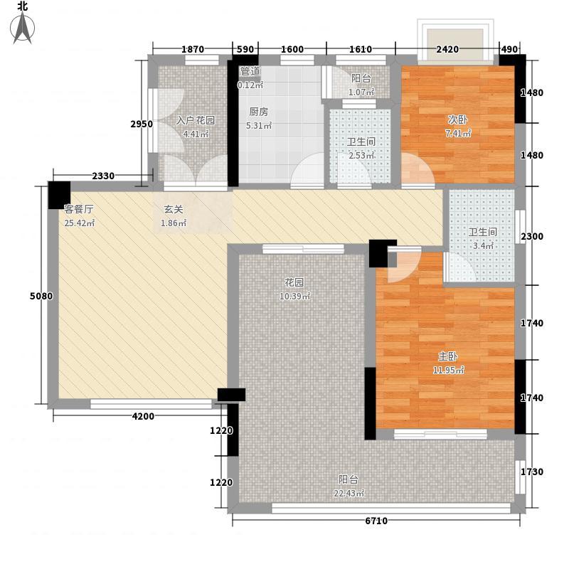 慧港国际户型图01单位奇数层2房2厅2卫 2室2厅2卫1厨