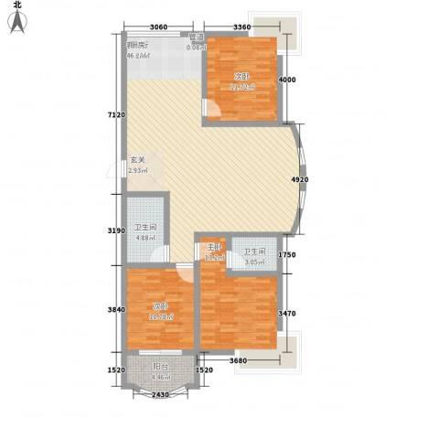 通泗街坊3室1厅2卫0厨135.00㎡户型图