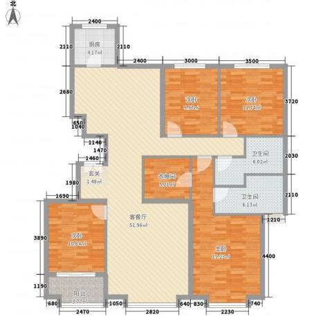 朗�骏景4室1厅2卫1厨160.00㎡户型图