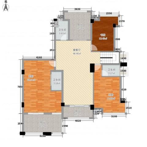 联发欣悦园3室1厅3卫0厨190.00㎡户型图