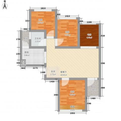 七里香榭4室1厅1卫1厨80.00㎡户型图