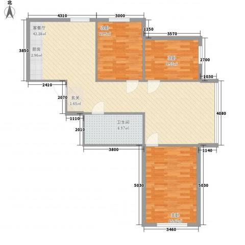 怡景嘉园3室1厅1卫0厨110.00㎡户型图