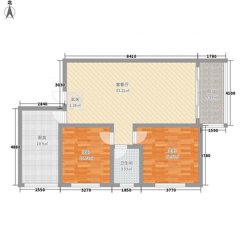 玉树苑89.19㎡玉树苑户型图2室2厅1卫1厨户型10室