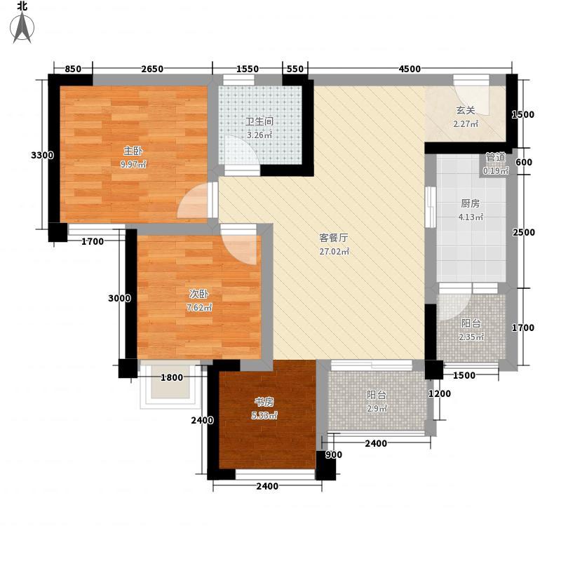 华宇广场5号楼G2标准层户型