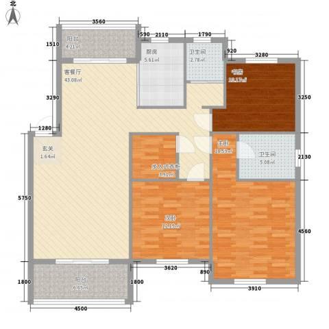 国骅东方湾邸3室1厅2卫1厨112.26㎡户型图