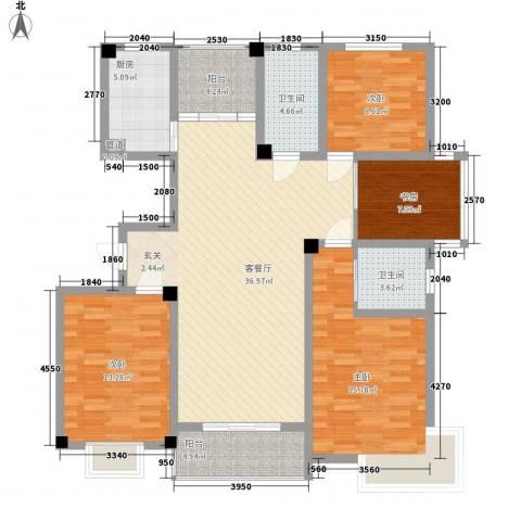 香梅花园4室1厅2卫1厨155.00㎡户型图