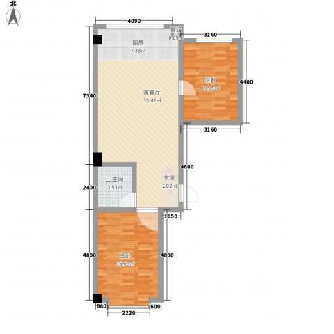 锦绣嘉苑2室1厅1卫0厨88.00㎡户型图