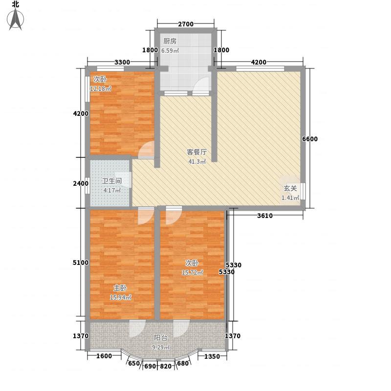 百合园120.88㎡百合园120.88㎡3室2厅1卫1厨户型3室2厅1卫1厨