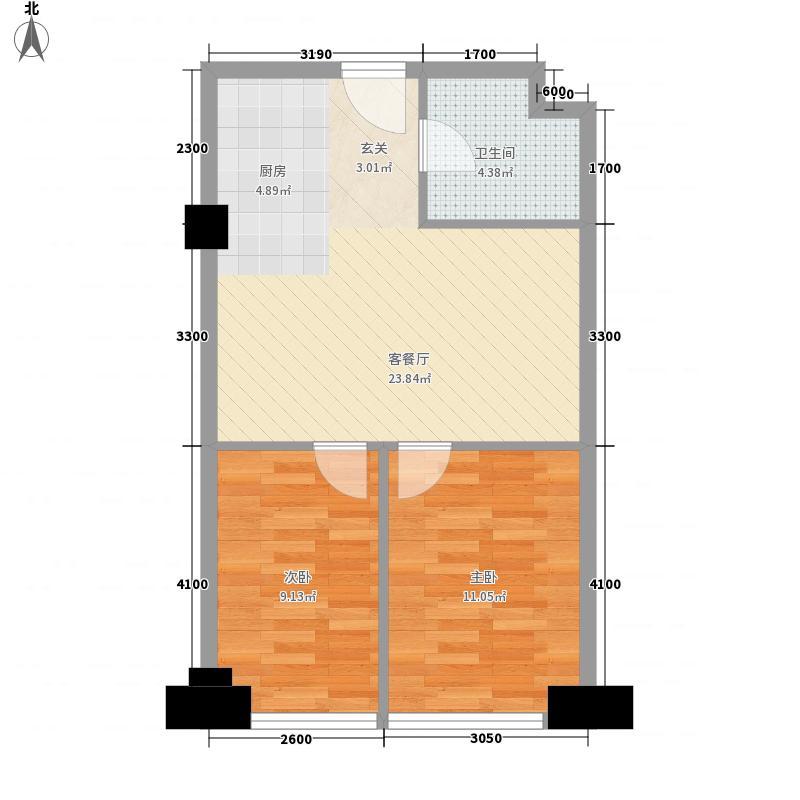 环宇世纪星城71.40㎡环宇世纪星城户型图2室2厅1卫户型10室