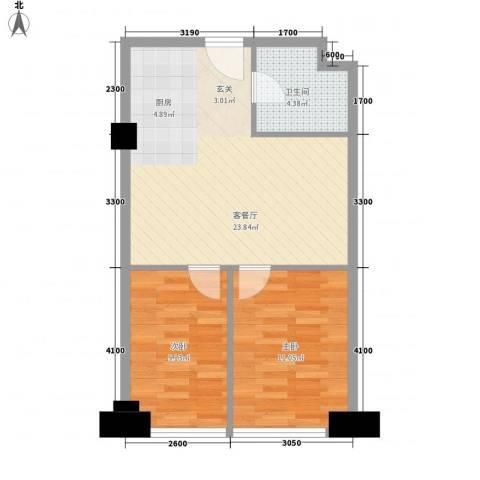 环宇世纪星城2室1厅1卫0厨71.00㎡户型图