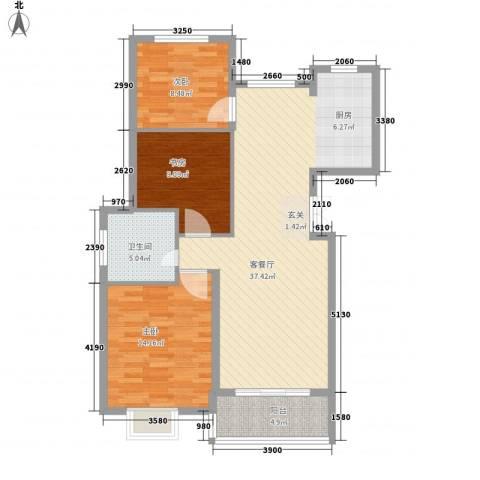 梧桐公馆3室1厅1卫0厨111.00㎡户型图