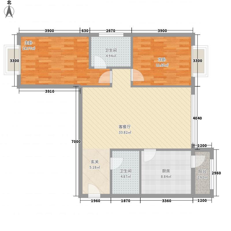 朝庭公寓户型2室