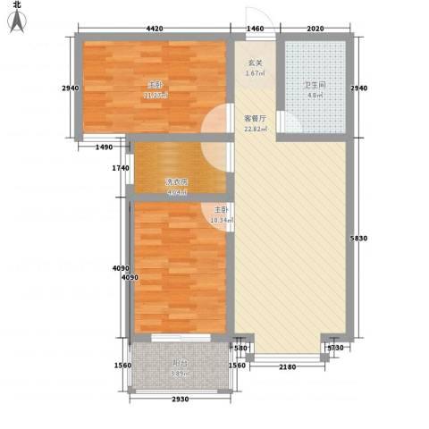 阳光蓝岸2室1厅1卫0厨83.00㎡户型图