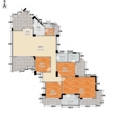 星河传说聚星岛B区4室1厅4卫1厨240.00㎡户型图