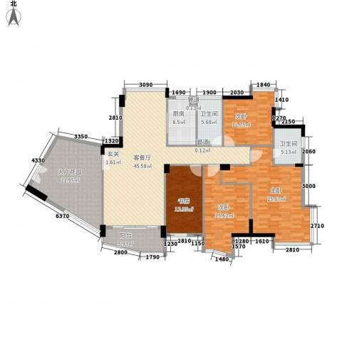 星河传说聚星岛B区4室1厅2卫1厨171.00㎡户型图