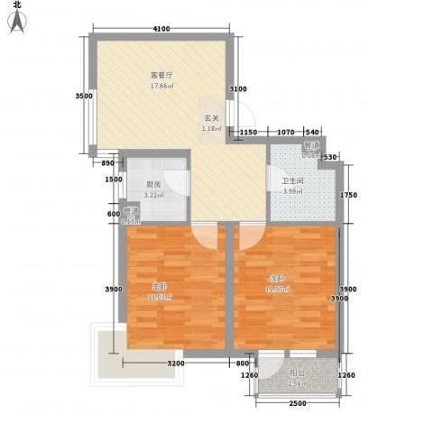 君海・朗郡2室1厅1卫1厨67.00㎡户型图