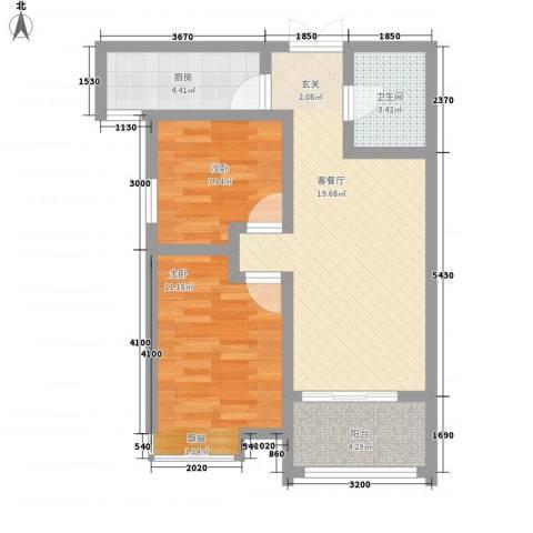 安阳义乌国际商贸城/义乌城2室1厅1卫1厨90.00㎡户型图