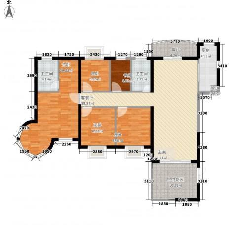嘉辉豪庭5室1厅2卫1厨154.00㎡户型图