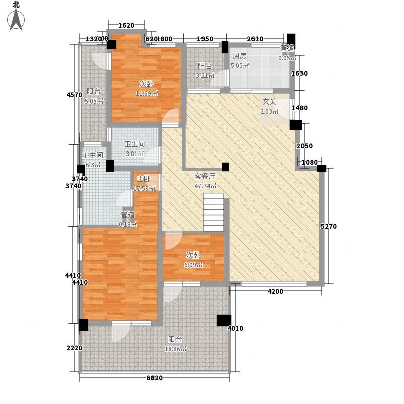 龙城1号170.00㎡缇香府Q型跃层6楼户型4室3厅3卫1厨