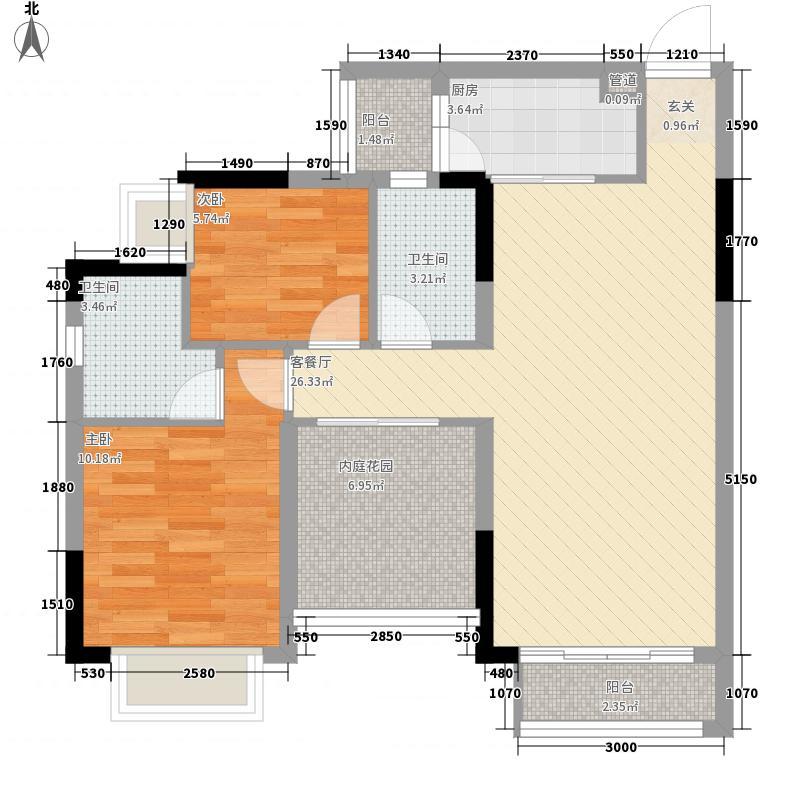 保利香槟花园92.00㎡保利香槟花园户型图15座04单元3室2厅2卫1厨户型3室2厅2卫1厨