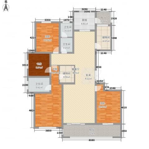 安阳义乌国际商贸城/义乌城4室1厅3卫1厨216.00㎡户型图