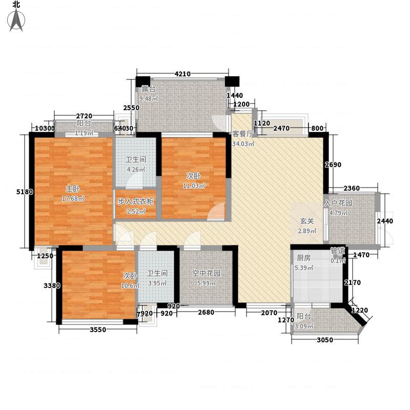 信义湛宝广场120.00㎡信义湛宝广场户型图A座06户型3室2厅2卫1厨户型3室2厅2卫1厨