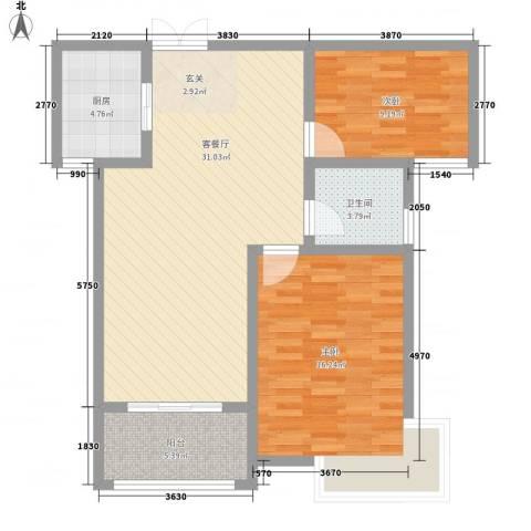 安阳义乌国际商贸城/义乌城2室1厅1卫1厨101.00㎡户型图